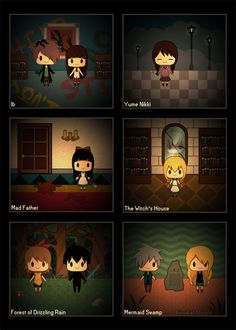 Omg I love those games though I don't know Yume Nikki. Dream diary it translates to I think?