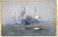 "iamjapanese: "" John William Tristram(Australian, 1872-1938) not titled [Landscape] 1921 Watercolour """