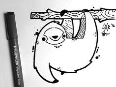 Bicho-preguiça | www.instagram.com/jetpacksandrollerskates