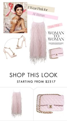 """""""I wear Pink for all women <3"""" by aryana-280 ❤ liked on Polyvore featuring Michael Kors, Chanel and Dsquared2"""
