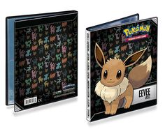 Ultra Pro Pokemon Eevee 4-Pocket Portfolio: 4-pocket portfolio featuring Eevee art from Pokemon. Holds 40 collectible cards single-loaded or 80 double-loaded. Each Portfolio includes 10 high-clarity, archival-safe pages.