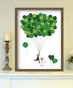 Das _up in the air-Gästebuch_ ist eine tolle Möglichkeit, um auch noch Jahre nach der Hochzeit in wunderbaren Erinnerungen an den schönsten Tag im Leb