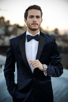 Express velvet tuxedo jacket   http://iamgalla.com/2014/12/dressing-dapper-for-the-holidays/