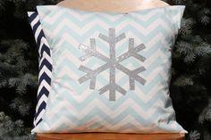 Modern Sparkle Snowflake Pillow Cover - Christmas Pillow. $23.00, via Etsy.