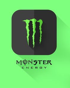 I love this brand so i decide to create flat icon for app Monster Energy, Icon Design, Iphone Wallpaper, Monsters, App, Flat, My Love, Energy Drinks, Create