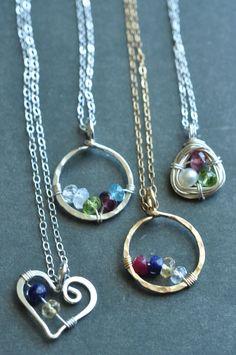 genuine birthstone jewelry for mom | Mu-Yin Jewelry