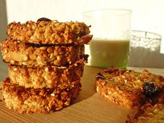 kiwi-forme.net Oat Cookies, Healthy Cookies, Cookies Et Biscuits, Healthy Treats, Dessert Healthy, Healthy Eating, Egg Recipes For Breakfast, Breakfast Snacks, Vegan Breakfast