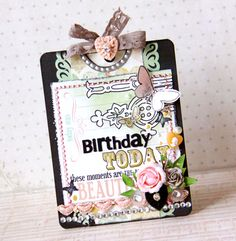 Happy Birthday card by Tomoko Takahashi using Webster's Pages products...very cute