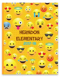 Emoji Bright Yearbook Cover and Theme Yearbook Staff, Yearbook Pages, Yearbook Covers, Yearbook Theme, Creative Yearbook Ideas, Yearbook Design, Emoji, Magazine Cover Page, Book Themes