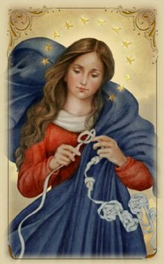 """""""Mary, under the title of Our Lady Undoer of Knots is a favorite of Pope Francis."""""""