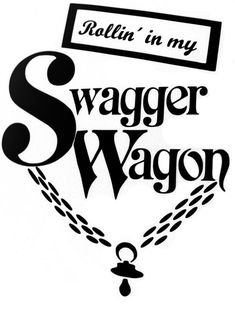 """Swagger Wagon"" my great friends made this sticker for there Toyota sienna and everyone wonders where they got it..... So they put them on etsy! Check them out!"