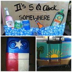 its 5o'clock somewhere..painted coolers