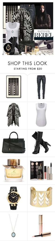 """Being a Rebel is her secret!"" by pebbles78 ❤ liked on Polyvore featuring Kate Spade, Balmain, Accessorize, ATM by Anthony Thomas Melillo, Yves Saint Laurent, Burberry, Laura Mercier, Versace, Armenta and By Terry"
