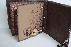 Mini album -- nice photos -- simple and pretty. Mini Scrapbook Albums, Scrapbook Pages, Scrapbooking Ideas, Mini Books, Scrap Books, Paper Art, Paper Crafts, Album Book, Book Making
