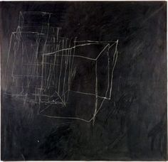 'night watch' 1966 distemper and crayon on canvas 190x  200cm / artist cy twombly
