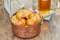 Krumplis pogácsa Cooking Cake, Minion, Feta, Bacon, Muffin, Cheese, Breakfast, Recipes, Drink