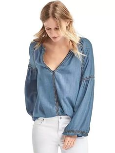 Tencel denim blouse