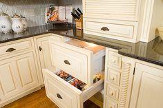 white paneled refrigerator drawer - Google Search