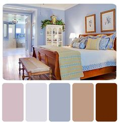Bed room bathroom colors