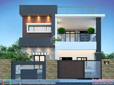 Modern Bungalow House Design, Small House Interior Design, Modern Exterior House Designs, Duplex House Design, House Front Design, 2bhk House Plan, Model House Plan, Small House Plans, 3 Storey House Design