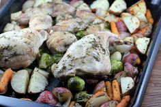 One Dish Roast Rabbit with Vegetables Recipe