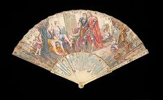 Fan- Date: late 18th century Culture: French Medium: Ivory, mother-of-pearl, paper