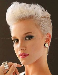 buzz cut spikey hairstyles for women - Google Search