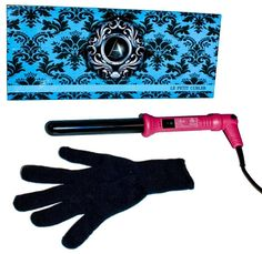 ATALI Curling Iron 25mm with Glove Dual Voltage American Plug 110-240V 60Hz, Hot Pink *** This is an Amazon Affiliate link. Click image for more details.