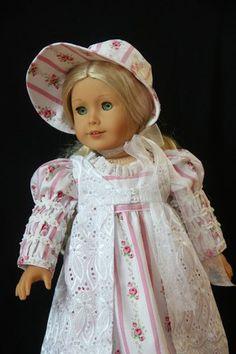 Regency Era 1812 OOAK Fashion for American Girl Caroline Glorias Garden | eBay. Sold 4/6/13 for $75.00.