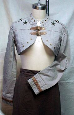 Darkwear Clothing Beige Airship Captains Steampunk by Darklysewn, $52.00