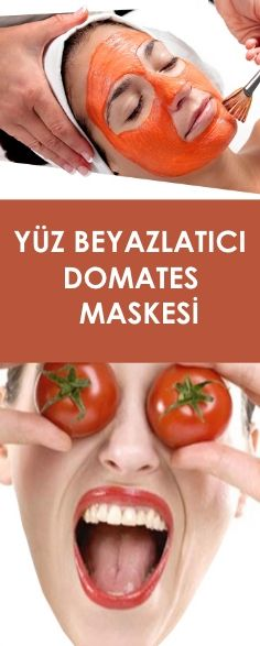 YÜZ BEYAZLATICI DOMATES MASKESİ Tomato Mask, Gq, Best Diy Face Mask, Skin Mask, Homemade Skin Care, Cool Diy Projects, Ombre Hair, Health And Beauty, Health Fitness