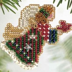 Christmas Angel beaded cross stitch ornament from Mill Hill