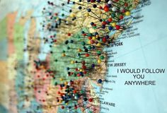 """""""Where I've been"""" map, or maybe """"Where I want to go"""" with different colored tacks"""