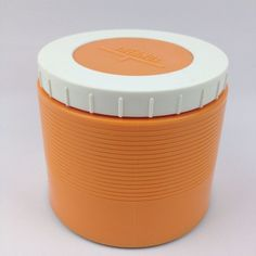 Thermos Insulated Food Jar Model 1155 King Seeley VTG Soup 8oz Orange Retro