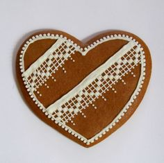 piernikowe serce z koronką