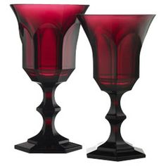 Victoria & Albert Water Goblet Ruby | Gracious Style