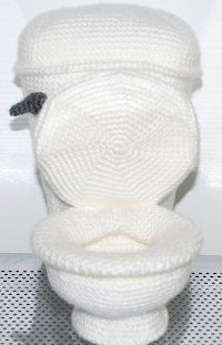Oh my God... I guess you could crochet anything... I give you: The Crocheted Toilet! (it's a free pattern, so give it a try)