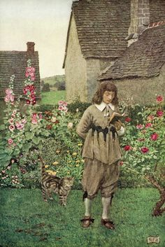 """Eleanor Fortescue Brickdale. """"The Book of old English songs and ballads"""" 1915 (9) """"The Wish""""  Abraham Cowley"""