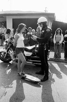"""Laurie and cop, Redondo beach"" from the Guardian article, ""Fast and Furious."""