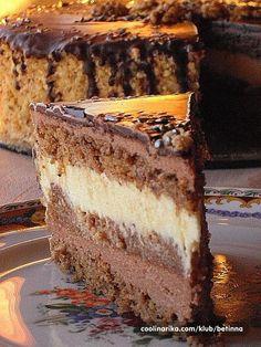 Torta od oraha i čokolade Torte Recepti, Kolaci I Torte, Christmas Desserts, Fun Desserts, Dessert Recipes, Wine Recipes, Baking Recipes, Cookie Recipes, Jednostavne Torte