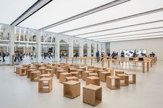 apple store designed by bohlin cywinski jackson opens in the world trade center oculus  #apple #terrazzo