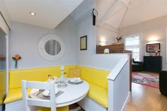 Apartment 7, Belfast #diningroom #colours #yellow #apartment #belfast #northernireland #propertynewsni #forsale Table And Chairs, Dining Table, Dining Rooms, Open Plan Kitchen Diner, Belfast, Property For Sale, Walled Garden, Colours, Furniture
