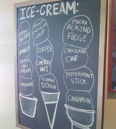 gelato board
