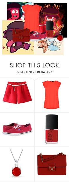 """Ruby- Steven Universe"" by wynysc23 ❤ liked on Polyvore featuring mode, French Connection, Vans, NARS Cosmetics, Bling Jewelry en Dolce&Gabbana"