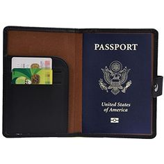 White Yard Rooster Baby Leather Passport Holder Cover Case Blocking Travel Wallet