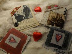 Ystävänpäiväkortit parhaimmille ystävilleni, kuvassa  minä ja hän  ja sydämellinen magneetti + suklaa sydän .