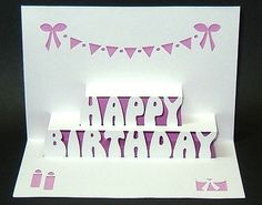 The 42 best pop up lertters happy birthday images on pinterest in pop up birthday card template maxwellsz