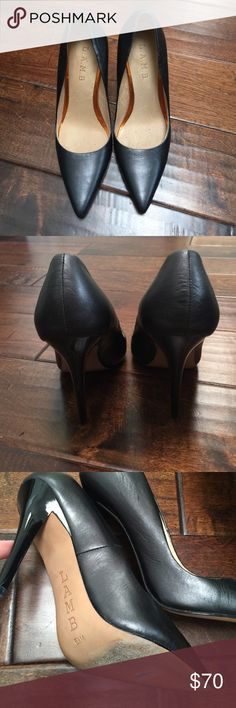 L.A.M.B black heels Gorgeous black leather classic high heel with polished heel. Worn 1 time. Excellent condition. No box. Purchased at Nordstrom Rack. L.A.M.B. Shoes Heels