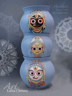 ART Beard h beard montreux Pottery Painting Designs, Pottery Designs, Paint Designs, Pottery Art, Bottle Painting, Bottle Art, Lord Jagannath, Sculptures Céramiques, Krishna Art