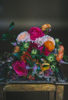 Colorful Bohemian wedding: Liz + Joshua | Real Weddings | 100 Layer Cake